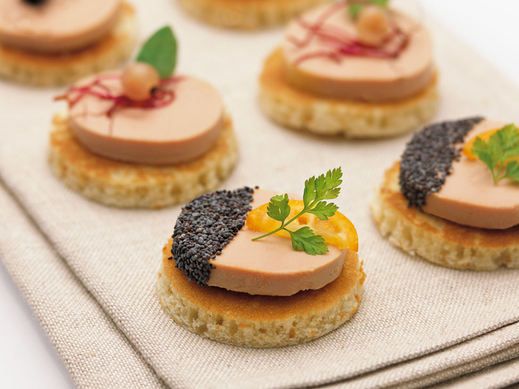Duck foie gras mousse for Canape foie gras